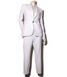 ラルフローレン RALPH LAUREN RALPH LAUREN ラルフローレン 1B テーラードジャケット パンツ セットアップ 2 White 白 /◆☆