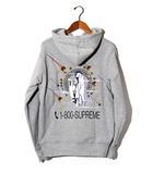 シュプリーム SUPREME 未使用品 2019AW SUPREME シュプリーム 1-800 Hooded Sweatshirt フーデッド スウェットシャツ パーカー M Heather Grey/●