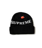 シュプリーム SUPREME 未使用品 2014AW SUPREME シュプリーム Jacquard Logo Beanie ジャガードロゴ ビーニー ニットキャップ Free Black 黒/●