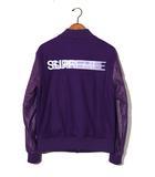 シュプリーム SUPREME 2018AW SUPREME シュプリーム Motion Logo Varsity Jacket モーションロゴ 袖レザー スタジャン ジャケット S Purple 紫/●