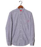 シュプリーム SUPREME SUPREME シュプリーム Striped Shirt ボタンダウンストライプシャツ S BLUE WHITE ブルー ホワイト /◆