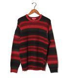 シュプリーム SUPREME 2017AW SUPREME シュプリーム Ombre Stripe Sweater オンブレ ボーダー セーター ニット M Red 赤/●