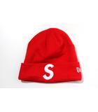 シュプリーム SUPREME Supreme × NEWERA シュプリーム ニューエラ S Logo Beanie エスロゴ ビーニー RED 赤 /●