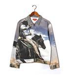 シュプリーム SUPREME 2017SS SUPREME シュプリーム Cowboy Denim Work Jacket 転写 カウボーイ デニム ワークジャケット M Multi/●