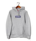シュプリーム SUPREME 未使用品 2019AW SUPREME シュプリーム Bandana Box Logo Hooded Sweatshirt バンダナ ボックスロゴ フーディ パーカー M Heather Grey/●