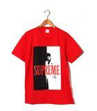 シュプリーム SUPREME 未使用品 2017AW SUPREME シュプリーム Scarface Split Tee スカーフェイス Tシャツ M Red 赤/●