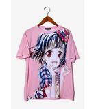 BanG Dream! バンドリ Poppin'Party 牛込りみ Ani-Art フルグラフィックTシャツ vol.2 L Pink ピンク /◆