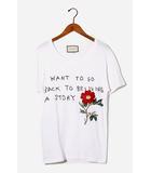 グッチ GUCCI 2017AW GUCCI グッチ Coco Capitan logo ココ キャピタン メッセージ Tシャツ XS WHITE 白 国内正規品/●☆