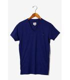 ディーゼル DIESEL DIESEL ディーゼル ワンポイントロゴ 装飾 Vネック 半袖Tシャツ XS ライトネイビー /◆