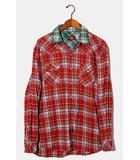 コンバース CONVERSE 未使用品 CONVERSE コンバース チェック柄 レイヤード長袖シャツ XL RED レッド /◆