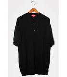 シュプリーム SUPREME 2018SS SUPREME シュプリーム knit polo 半袖 ニットポロシャツ XL BLACK ブラック /◆