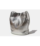 グーコミューン gout commun gout commun グーコミューン 箔プリント トートバッグ Silver 銀 /◆☆