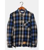エム M M エム original ombre check pullove shirts オンブレチェック プルオーバーシャツ SMALL BLUE ブルー /◆