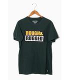 ラフアンドラゲッド ROUGH AND RUGGED 2019SS ROUGH AND RUGGED ラフアンドラゲッド DESIGN TEE デザイン 半袖Tシャツ S Green 緑 /◆
