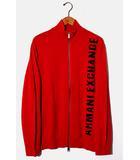 アルマーニエクスチェンジ A/X ARMANI EXCHANGE A/X ARMANI EXCHANGE アルマーニエクスチェンジ ロゴ ジップアップニットジャケット XL RED レッド 6GZE1R /◆