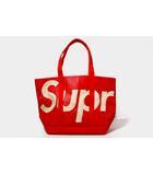 シュプリーム SUPREME 未使用品 2020SS SUPREME シュプリーム Raffia Tote ラフィア トートバッグ RED 赤 /●