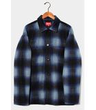 シュプリーム SUPREME 未使用品 2020AW Supreme シュプリーム Shadow Plaid Fleece Shirt チェック シャドウ プレイド フリースシャツ L BLUE ブルー /●
