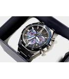 カシオ CASIO 未使用品 CASIO カシオ EDIFICE エディフィス EQS-800CDB-1BDR ソーラー クロノグラフ 腕時計