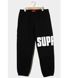 シュプリーム SUPREME 未使用品 2020AW Supreme シュプリーム Rib Sweatpant ロゴ リブスウェットパンツ S BLACK ブラック 黒 /●