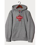 シュプリーム SUPREME 未使用品 2020AW Supreme シュプリーム Cross Box Logo Hooded Sweatshirt クロスボックスロゴ フーデッドスウェットシャツ パーカー Large Heather Grey グレー /●