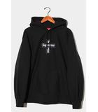 シュプリーム SUPREME 未使用品 2020AW Supreme シュプリーム Cross Box Logo Hooded Sweatshirt クロスボックスロゴ フーデッドスウェットシャツ プルオーバーパーカー Large BLACK ブラック /●