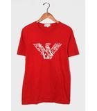 EMPORIO ARMANI エンポリオアルマーニ イーグル ロゴ プリント クルーネック Tシャツ XL RED 赤/◆☆