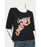GIVENCHY ジバンシィ ラインストーン プリント プルオーバー Tシャツ カットソー トップス M BLACK ブラック /◆☆