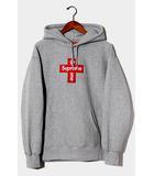 シュプリーム SUPREME 未使用品 2020AW Supreme シュプリーム Cross Box Logo Hooded Sweatshirt クロスボックスロゴ フーデッドスウェットシャツ パーカー Medium Heather Grey グレー /●
