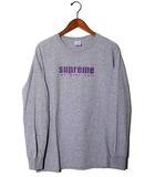 シュプリーム SUPREME 2019SS Supreme シュプリーム The Real Shit L/S Tee プリント 長袖Tシャツ M Heather Grey グレー /●