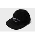 シュプリーム SUPREME 2016SS SUPREME シュプリーム Suede Classic Logo 6-Panel Cap スエード クラシック ロゴ 6パネル キャップ Black 黒/●