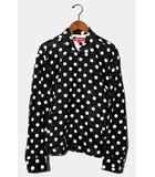2018SS Supreme シュプリーム Polka Dots Rayon Work Jacket ドット レーヨン ワークジャケット M BLACK ブラック /●