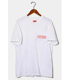 シュプリーム SUPREME 2019SS Supreme シュプリーム Mesh Stripe Pocket Tee ポケットTシャツ M WHITE ホワイト /●