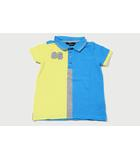 Mercedes-Benz メルセデスベンツ 86 ナンバリング ロゴ刺繍 半袖 ポロシャツ  140/146 Blue yellow ブルー イエロー /◆