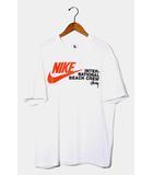 未使用品 2020AW NIKE × STUSSY ナイキ ステューシー BEACH POSSE TEE プリント 半袖Tシャツ M WHITE ホワイト DD3070-121 /●