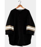 サスクワッチファブリックス SASQUATCH fabrix SASQUATCH fabrix サスクワッチファブリックス XXXL BASEBALL SHIRT オーバーサイズ ベースボールシャツ L BLACK 黒 /◆