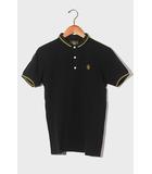 WTAPS ダブルタップス CHIFE S/S 半袖 刺繍 ポロシャツ カットソー S BLACK × YELLOW 黒色 黄色 101ATDT-CSM12/◆