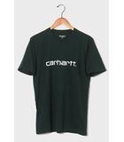 カーハート carhartt carhartt カーハート SCRIPT T-SHIRT 半袖 フロントプリント フォントロゴ Tシャツ カットソー M GREEN 緑色/◆