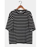 アンユーズド UNUSED UNUSED アンユーズド border t-shirt  ボーダー半袖Tシャツ 1 BLACK WHITE 黒 白 US1260 /◆