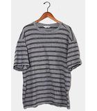 アンユーズド UNUSED UNUSED アンユーズド Short Sleeve Border T-shirt 半袖ボーダーTシャツ 1 Gray グレー US1387 /◆