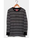 シュプリーム SUPREME Supreme シュプリーム Multi Stripe L/S Top  ボーダー長袖Tシャツ S BLACK 黒 /◆