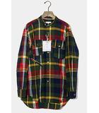 エンジニアードガーメンツ Engineered Garments Engineered Garments エンジニアードガーメンツ Banded Collar Shirt Cotton Big Madras Plaid マドラスチェック 長袖 バンドカラーシャツ XXS Green Navy グリーン /●