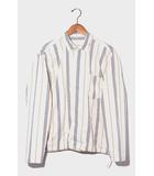 ウェルダー WELLDER 19SS WELLDER ウェルダー Drawstring Shirt ストライプ ドローコードシャツ 3 IVORY アイボリー WM19SSH03/◆