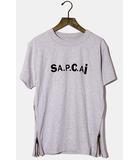 サカイ sacai 未使用品 2021SS sacai × A.P.C. サカイ アーペーセー Kiyo Tシャツ XXS Gray グレー /●☆