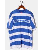 シュプリーム SUPREME 未使用品 2021SS Supreme シュプリーム Printed Stripe S/S Top ストライプ 半袖Tシャツ M Bright Blue ブライトブルー /●