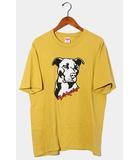 シュプリーム SUPREME 2020SS Supreme シュプリーム Pitbull Tee ピットブル プリント 半袖Tシャツ M Acid Yellow 黄色 /●