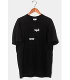シュプリーム SUPREME 2018AW Supreme × COMME des GARCONS SHIRT シュプリーム コムデギャルソン シャツ CDG SHIRT Split Tee スプリット Tシャツ M BLACK ブラック /●