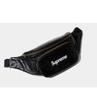 2017SS Supreme シュプリーム Leather Waist Bag レザー ウエストバッグ BLACK 黒 /●