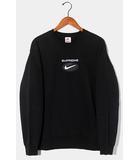 シュプリーム SUPREME 2020AW Supreme × Nike シュプリーム ナイキ Jewel Crewneck Sweatshirt ロゴ クルーネック スウェット M BLACK 黒 /●