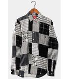 シュプリーム SUPREME 2015AW Supreme シュプリーム Printed Patchwork Flannel Shirt プリント パッチワークフランネルシャツ S BLACK 黒 /●