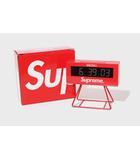 シュプリーム SUPREME 未使用品 2021SS SUPREME × SEIKO シュプリーム セイコー Marathon Clock 置時計 Red 赤/●